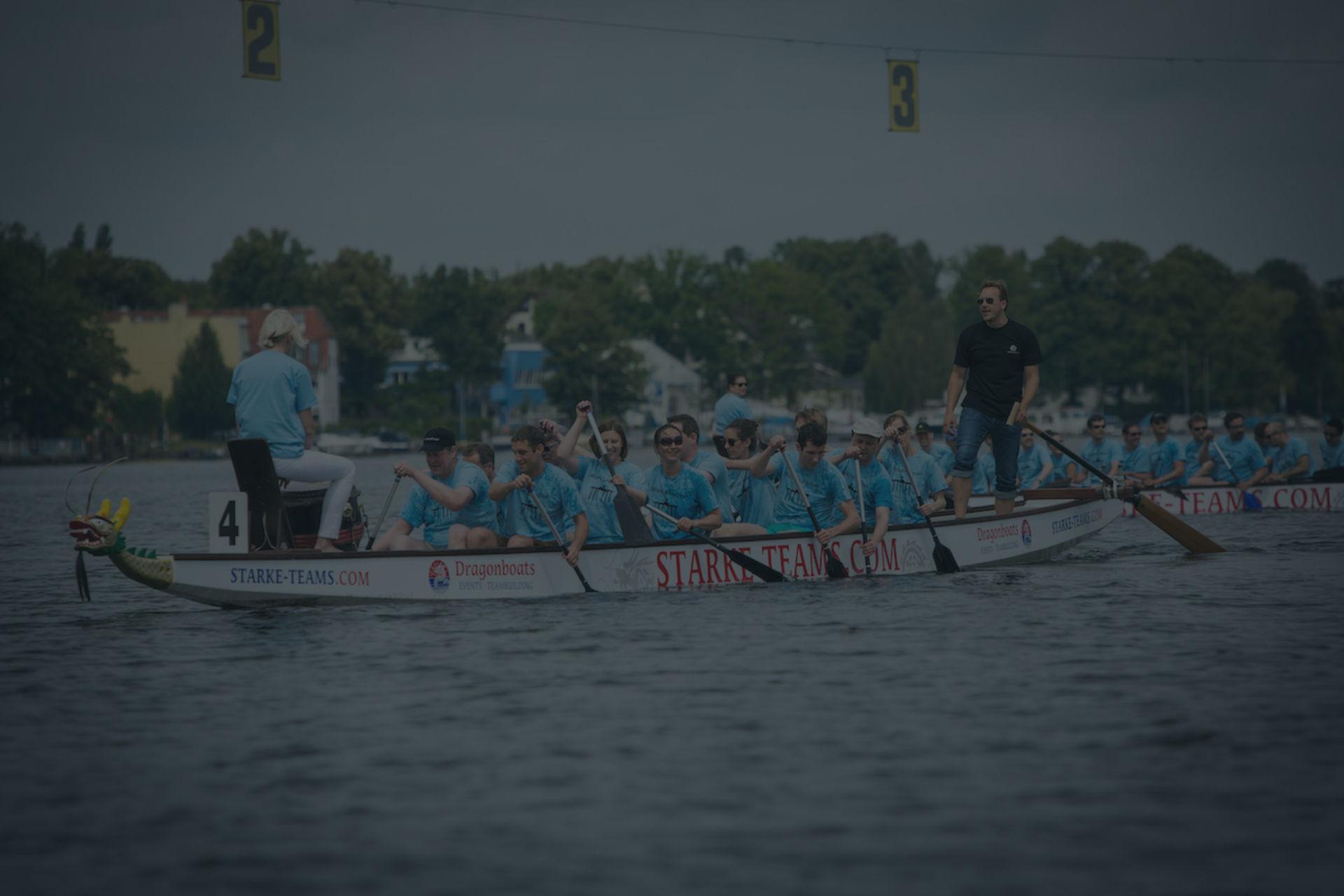 Drachenboot fahren als Teamevent BG