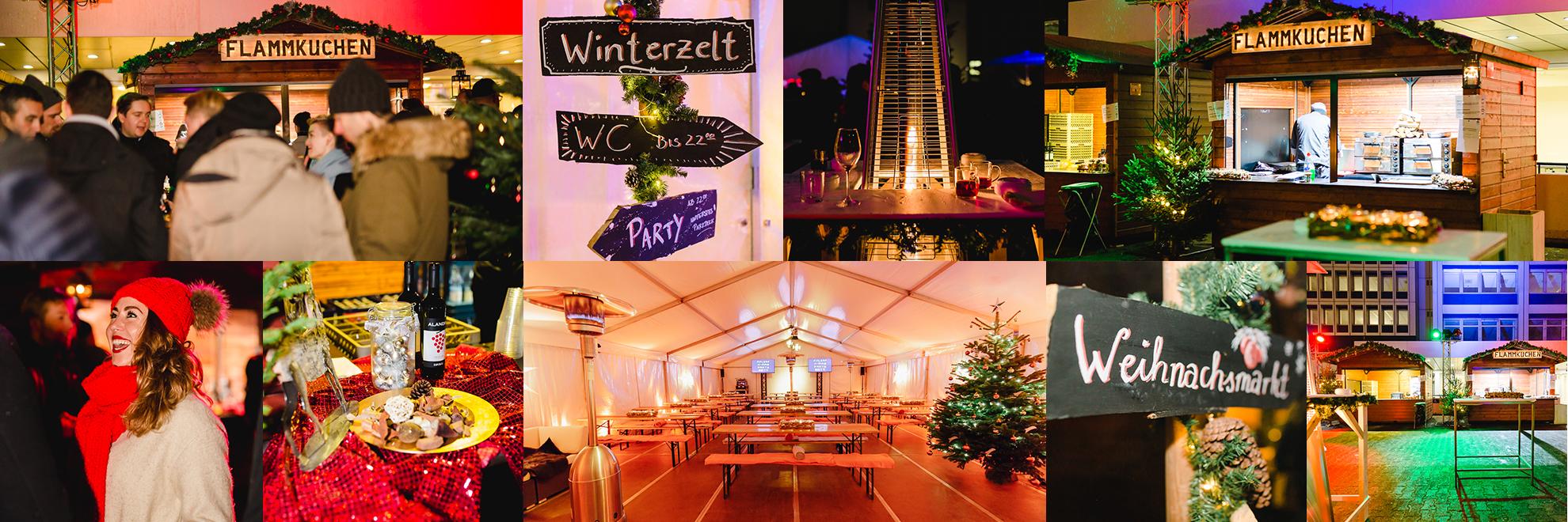 Impressionen eigener Weihnachtsmarkt als Firmenfeier in Berlin