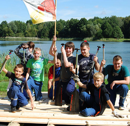 Floßbau in Berlin Eventportfolio Kinder